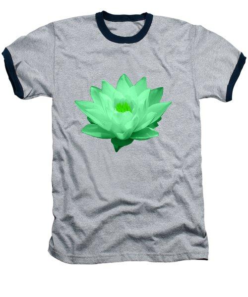 Green Lily Blossom Baseball T-Shirt by Shane Bechler