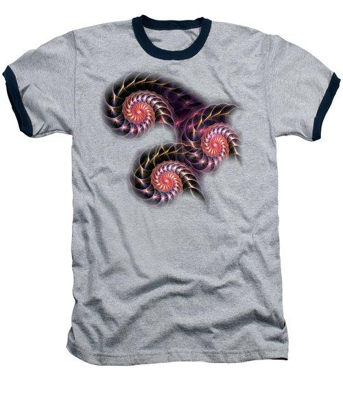 Happy Lights Baseball T-Shirt by Anastasiya Malakhova