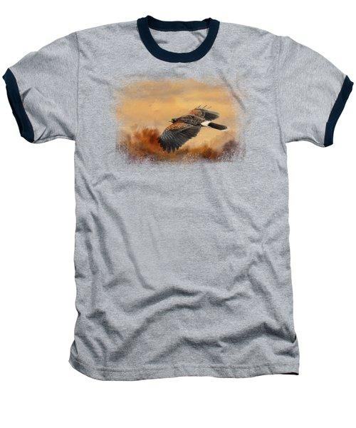 Harris Hawk In Autumn Baseball T-Shirt by Jai Johnson