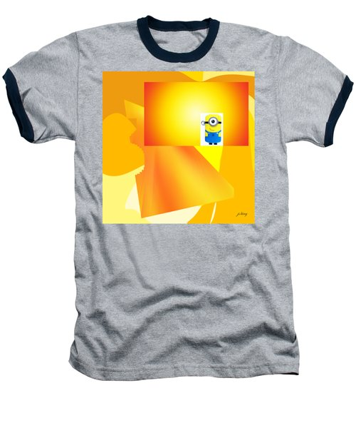 Hello Yellow Baseball T-Shirt by Jacquie King