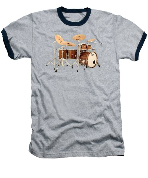 Hendrix  Drums Baseball T-Shirt by Shavit Mason