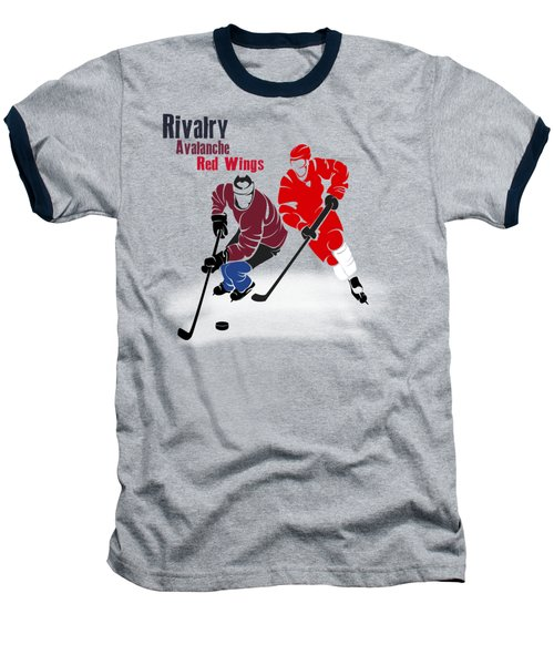 Hockey Rivalry Avalanche Red Wings Shirt Baseball T-Shirt by Joe Hamilton
