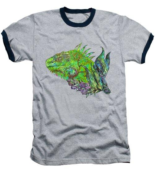 Iguana Cool Baseball T-Shirt by Carol Cavalaris