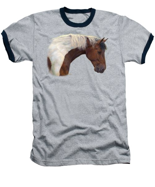 Intrigued Baseball T-Shirt by Lucie Bilodeau