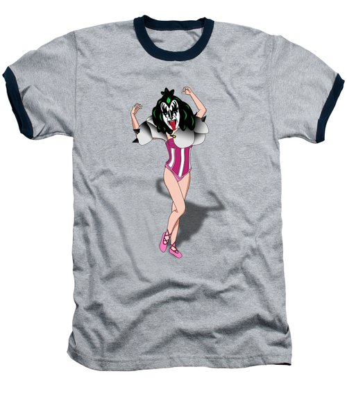 Kizz Ballet Ballerina Baseball T-Shirt by Mark Ashkenazi