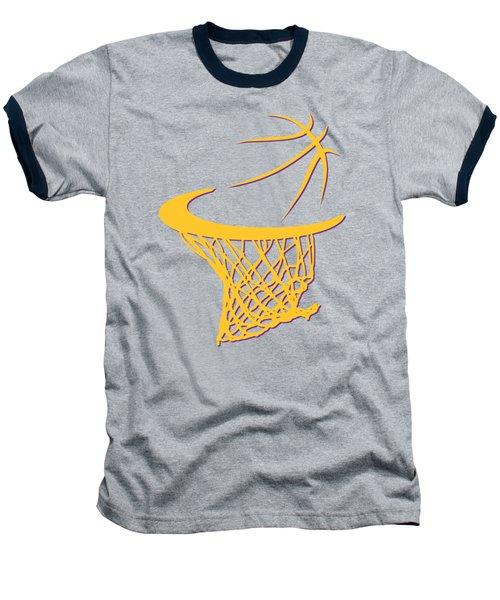 Lakers Basketball Hoop Baseball T-Shirt by Joe Hamilton