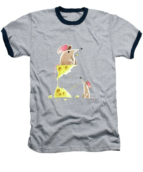 Living Dangerously  Baseball T-Shirt by Andrew Hitchen
