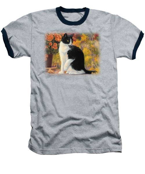 Looking Afar Baseball T-Shirt by Lucie Bilodeau