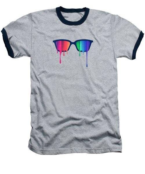 Love Wins Rainbow - Spectrum Pride Hipster Nerd Glasses Baseball T-Shirt by Philipp Rietz