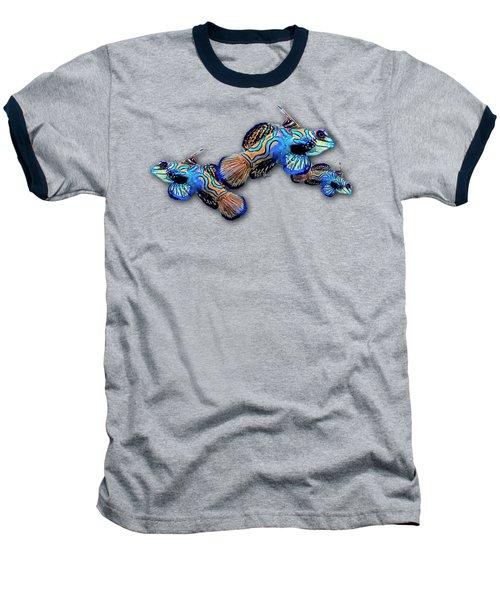Mandarin Gobies Baseball T-Shirt by Russ Harris