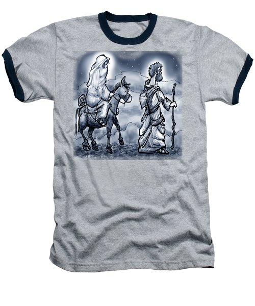 Mary And Joseph  Baseball T-Shirt by Kevin Middleton
