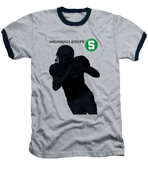 Michigan State Football Baseball T-Shirt by David Dehner