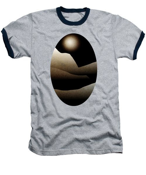 Mountain Moonlight Landscape Art Baseball T-Shirt by Christina Rollo