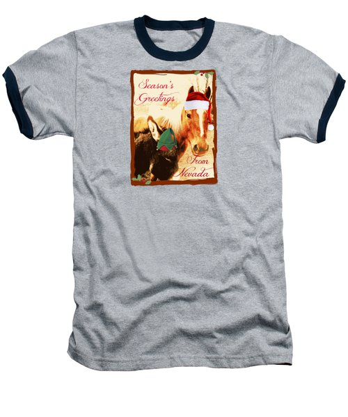 Nevada Greetings Baseball T-Shirt by Bobbee Rickard