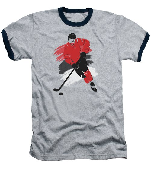 New Jersey Devils Player Shirt Baseball T-Shirt by Joe Hamilton