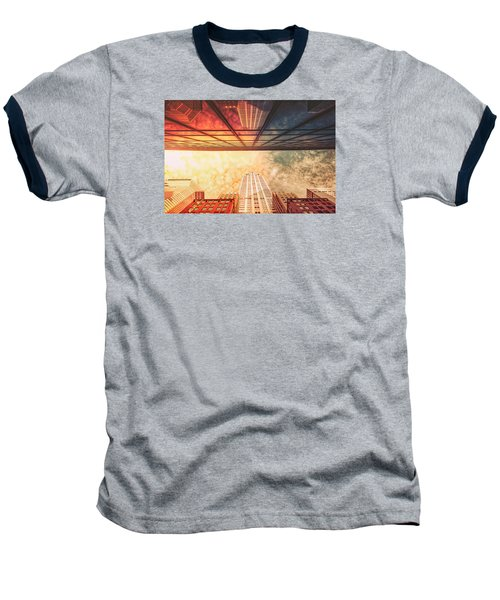New York City - Chrysler Building Baseball T-Shirt by Vivienne Gucwa