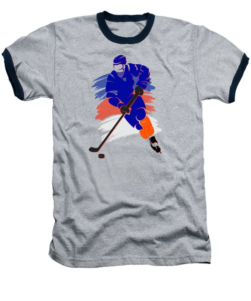 New York Islanders Player Shirt Baseball T-Shirt by Joe Hamilton