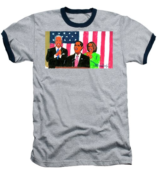 Obama's State Of The Union '10 Baseball T-Shirt by Candace Lovely