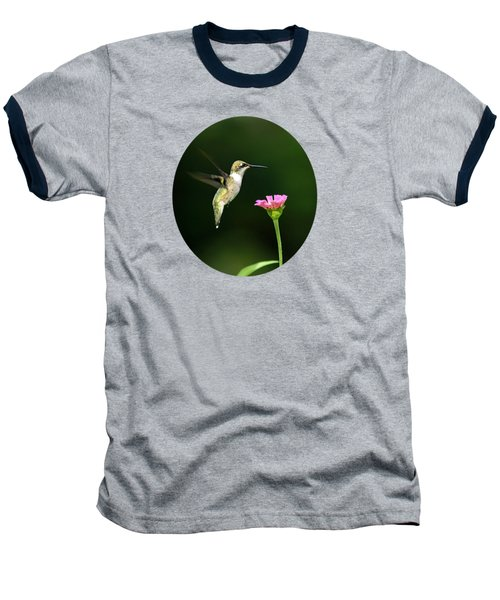 One Hummingbird Baseball T-Shirt by Christina Rollo
