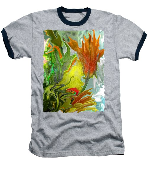 Orange Tulip Baseball T-Shirt by Kathy Moll