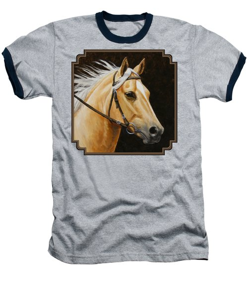 Palomino Horse Portrait Baseball T-Shirt by Crista Forest