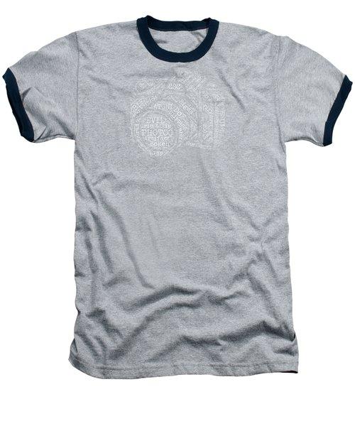 Photography Slang Word Cloud Baseball T-Shirt by Felikss Veilands