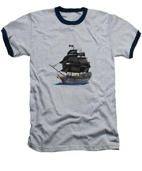 Pirate Ship At Sunset Baseball T-Shirt by Glenn Holbrook