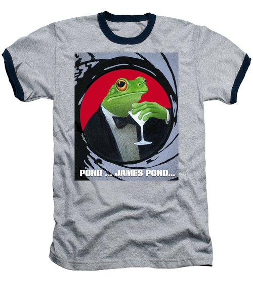 Pond...james Pond... Baseball T-Shirt by Will Bullas