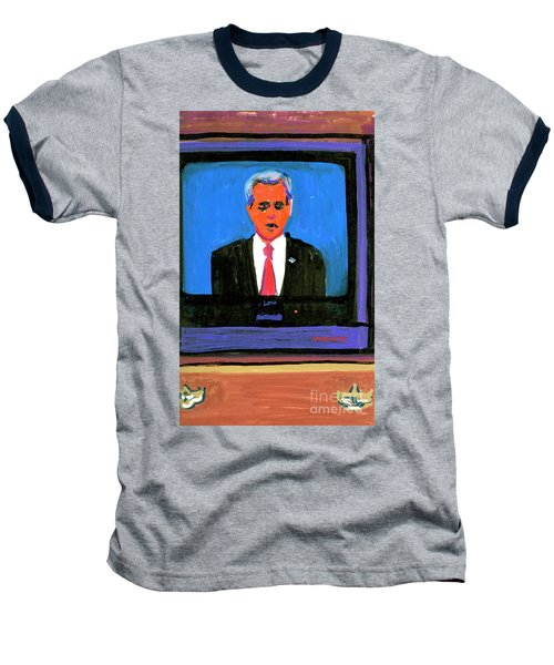 President George Bush Debate 2004 Baseball T-Shirt by Candace Lovely