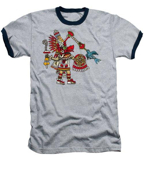 Quetzalcoatl In Human Warrior Form - Codex Magliabechiano Baseball T-Shirt by Serge Averbukh