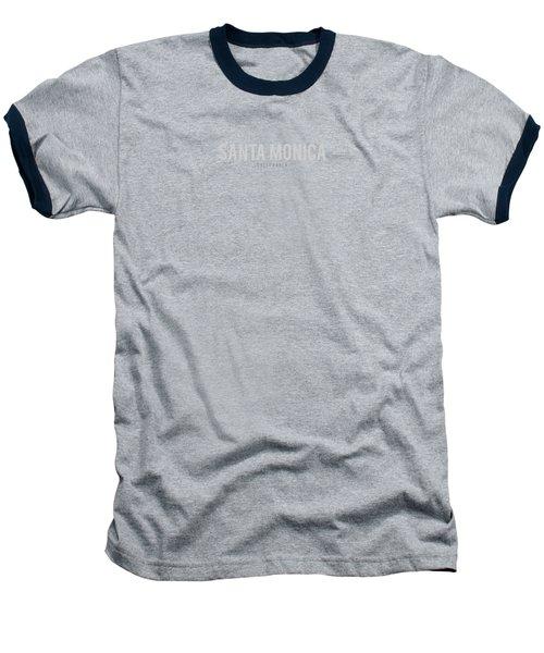 Santa Monica California Baseball T-Shirt by Sean McDunn
