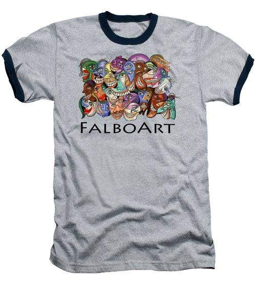 Say Cheese T-shirt Baseball T-Shirt by Anthony Falbo