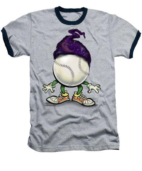 Softball Wizard Baseball T-Shirt by Kevin Middleton