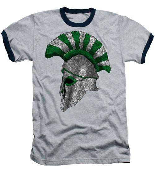 Spartan Helmet Baseball T-Shirt by Dusty Conley