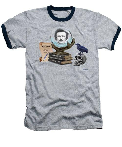 Spirit Of Edgar A. Poe Baseball T-Shirt by Glenn Holbrook