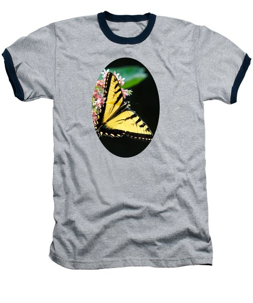 Swallowtail Butterfly And Milkweed Flowers Baseball T-Shirt by Christina Rollo