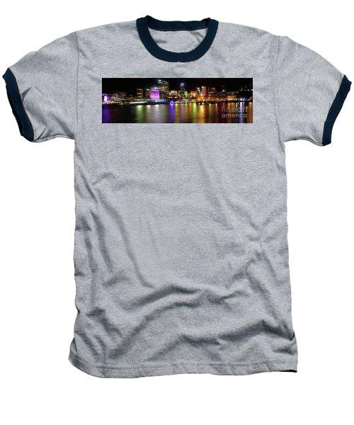 Sydney Skyline By Kaye Menner Baseball T-Shirt by Kaye Menner