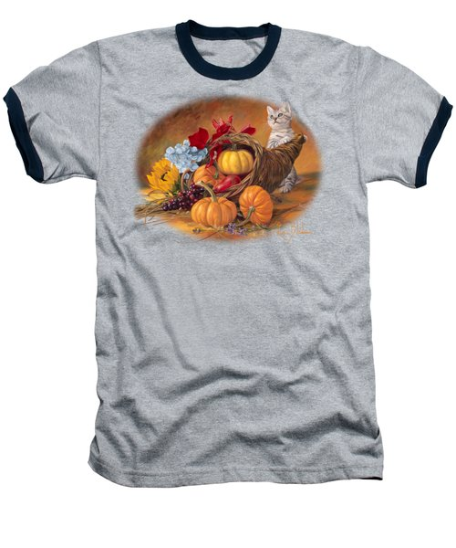 Thankful Baseball T-Shirt by Lucie Bilodeau