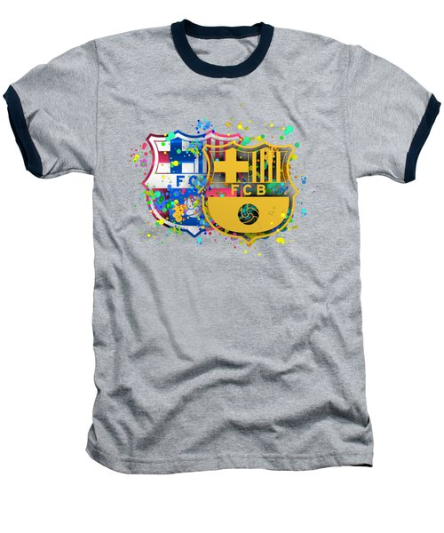 Tribute To Fc Barcelona 8 Baseball T-Shirt by Alberto RuiZ