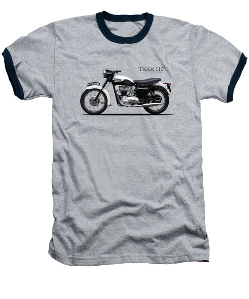 Triumph Tiger 1959 Baseball T-Shirt by Mark Rogan