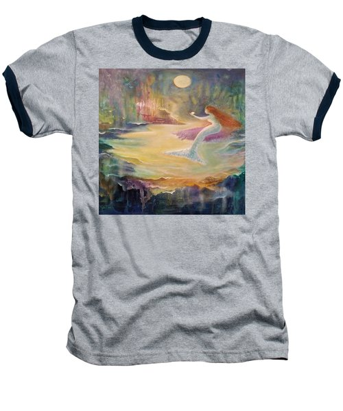 Vintage Mermaid Baseball T-Shirt by Lily Nava