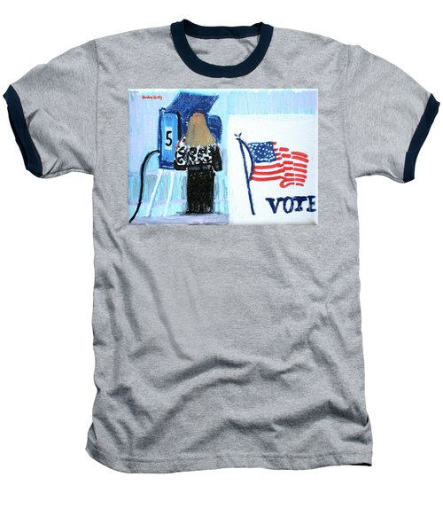 Voting Booth 2008 Baseball T-Shirt by Candace Lovely
