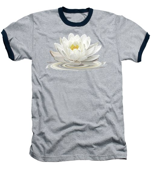 Water Lily Whirl Baseball T-Shirt by Gill Billington