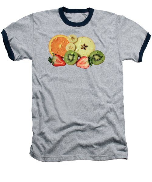 Wet Fruit Baseball T-Shirt by Shane Bechler
