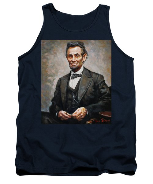 Abraham Lincoln Tank Top by Ylli Haruni
