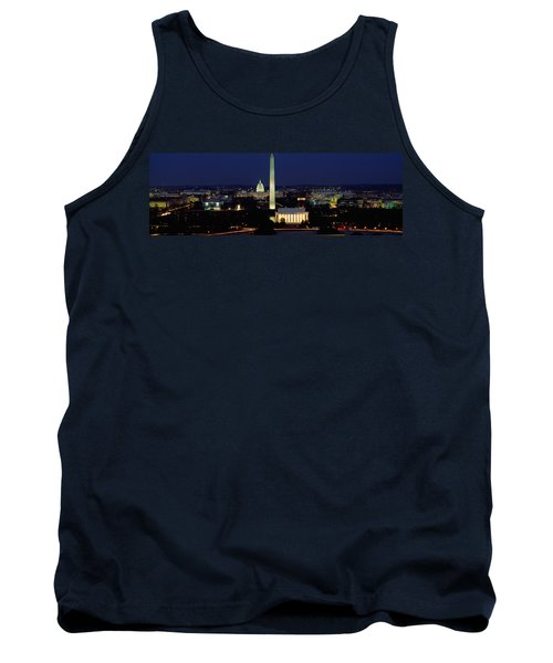 Buildings Lit Up At Night, Washington Tank Top by Panoramic Images
