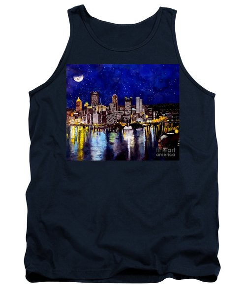 City Of Pittsburgh At The Point Tank Top by Christopher Shellhammer