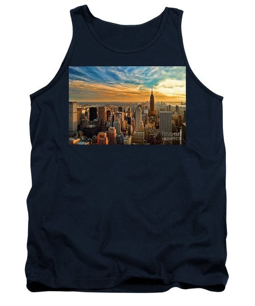 City Sunset New York City Usa Tank Top by Sabine Jacobs