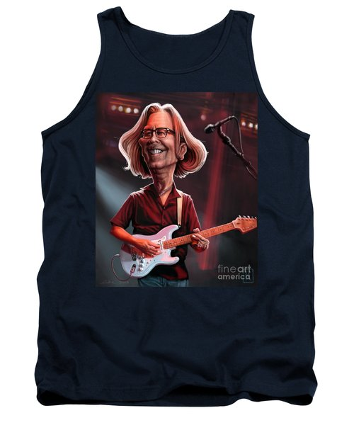 Eric Clapton Tank Top by Andre Koekemoer