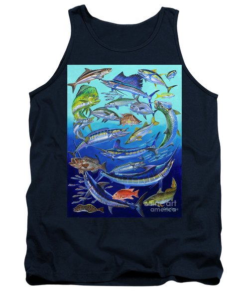 Gamefish Collage In0031 Tank Top by Carey Chen